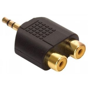 Adaptador Elite de plug 3,5 mm estéreo a 2 jacks RCA
