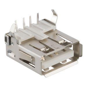 Jack USB A para soldar, sin cubierta