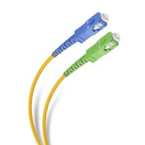 Cable de fibra óptica SC APC/UPC para acometida telefónica, de 5m