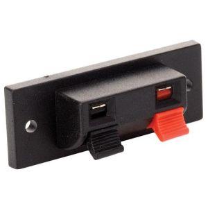 Conector sencillo con 2 terminales tipo push, para bafle