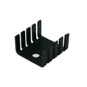 Disipador electrónico de 10 aletas para TO-220 de 20x18x8 mm