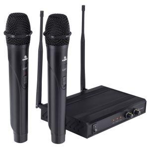 Sistema profesional de 2 micrófonos inalámbricos UHF