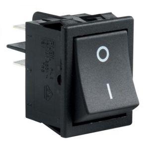 Switch de balancín, de 2 polos, 1 tiro, 2 posiciones, de 16/8 Amperes