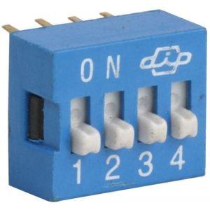 Switch deslizable (Dip Switch) de 4 posiciones