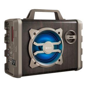 Amplificador de 350 WPMPO Bluetooth con batería recargable y luz LED, portátil