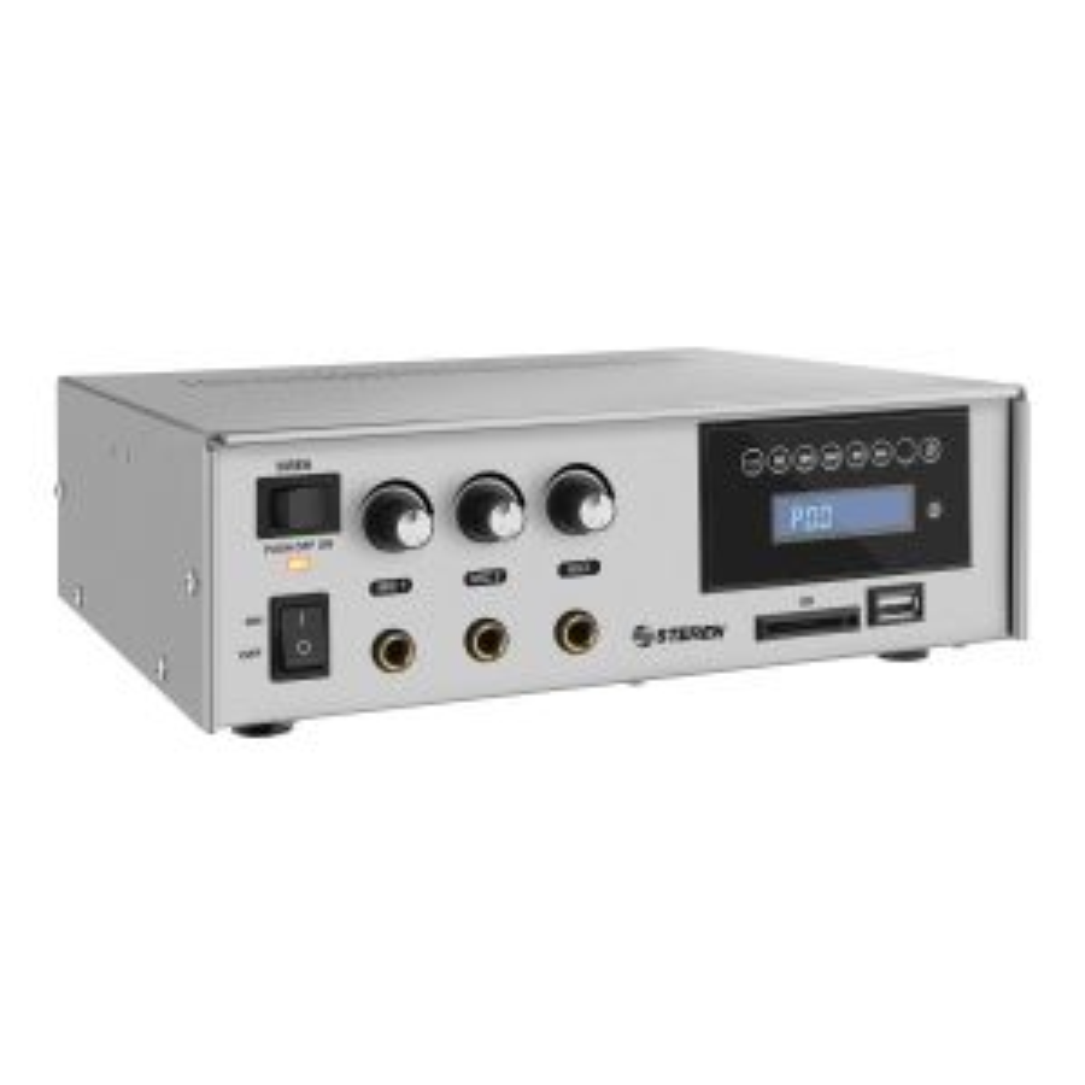 Amplificador de audio de 40 Watts con Bluetooth, radio FM y reproductor MP3