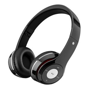Audífonos Bluetooth con reproductor MP3, negros