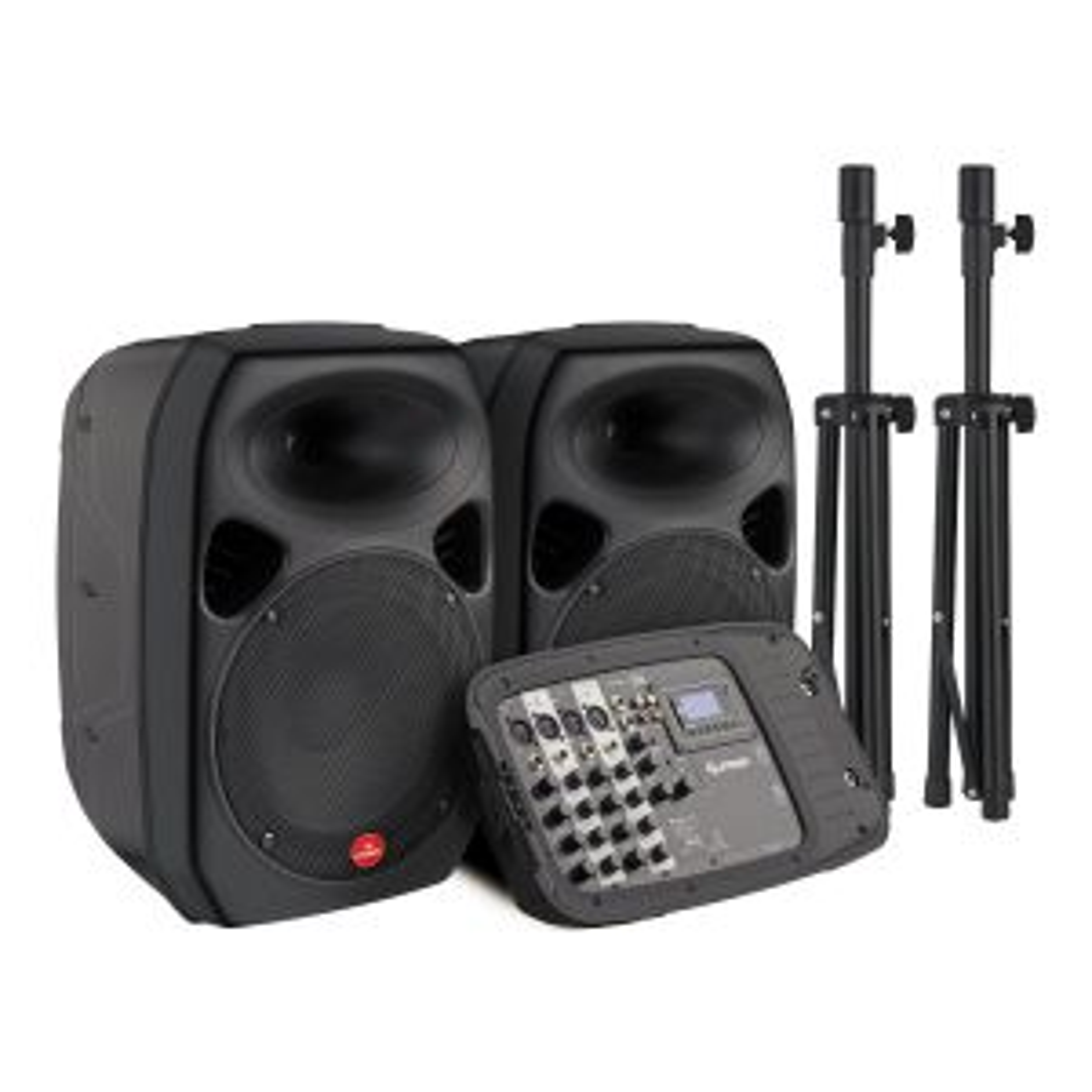 Sistema de audio 2,800 W PMPO profesional Bluetooth, portátil