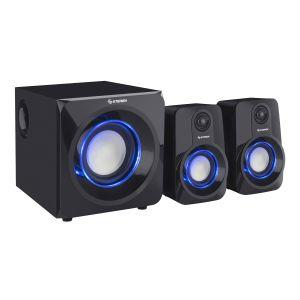 Sistema de audio multimedia 2.1 de 950 W PMPO con bocinas iluminadas