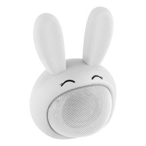 Mini bocina Bluetooth con forma de Conejo Blanco