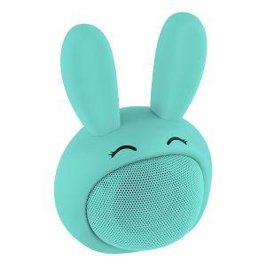Mini bocina Bluetooth con forma de Conejo Azul