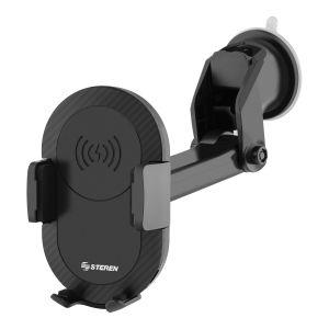Soporte para celular con cargador inalámbrico Qi, de parabrisas