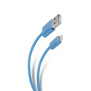Cable USB a lightning de 2 m color azul
