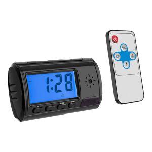 Reloj despertador de repisa con cámara espía