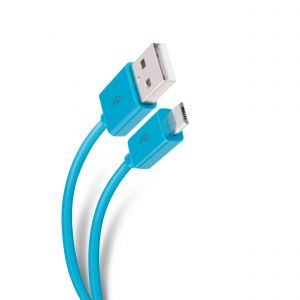 Cable USB a micro USB azul, de 1,8 m